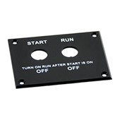 RSP-1 START / RUN SWITCH PLATE